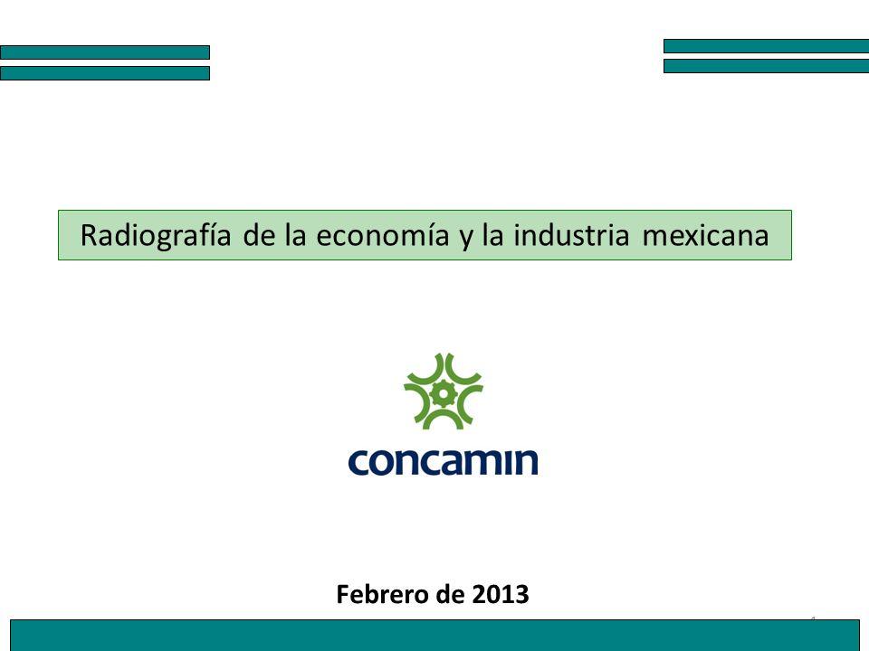 1 Radiografía de la economía y la industria mexicana Febrero de 2013