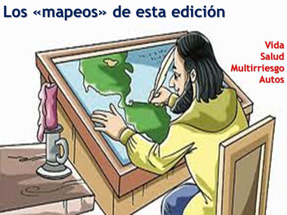 Los «mapeos» de esta edición Vida Salud MultirriesgoAutos