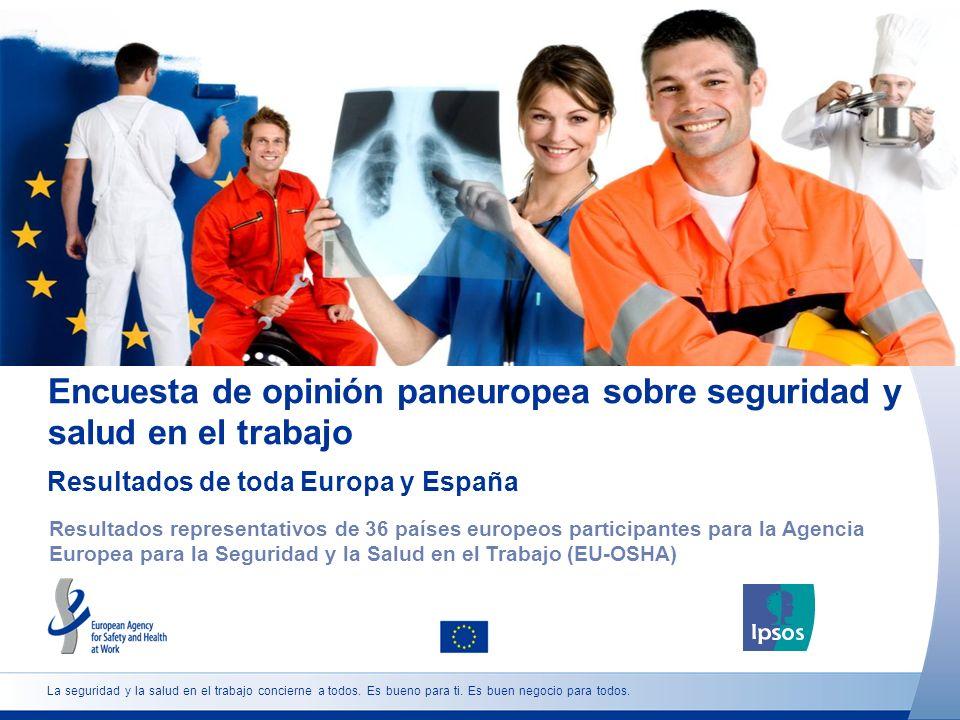 La seguridad y la salud en el trabajo concierne a todos. Es bueno para ti. Es buen negocio para todos. Encuesta de opinión paneuropea sobre seguridad