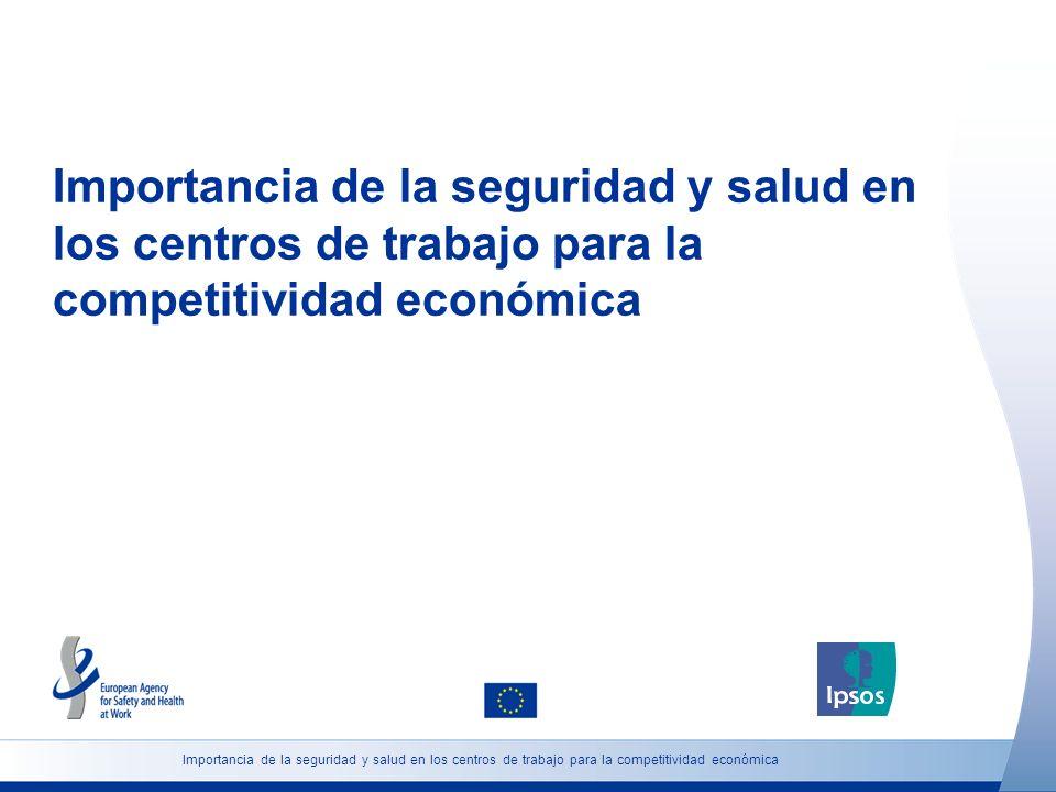 Importancia de la seguridad y salud en los centros de trabajo para la competitividad económica