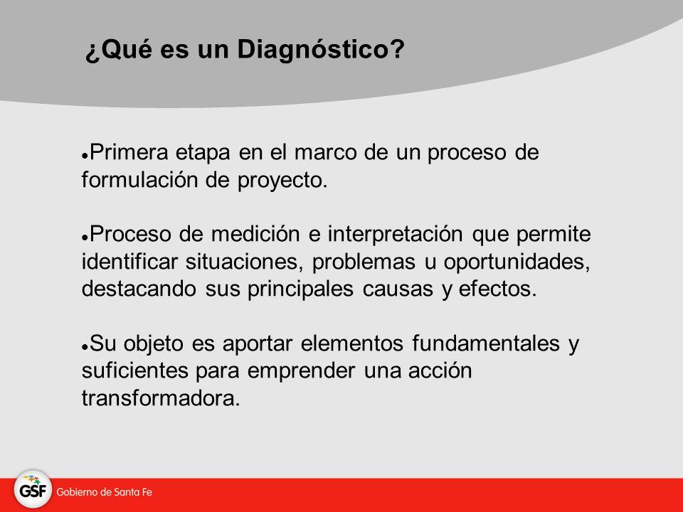 ¿Qué es un Diagnóstico. Primera etapa en el marco de un proceso de formulación de proyecto.