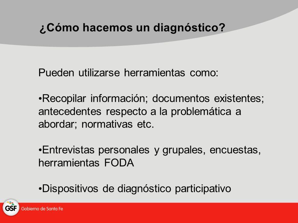 ¿Cómo hacemos un diagnóstico.