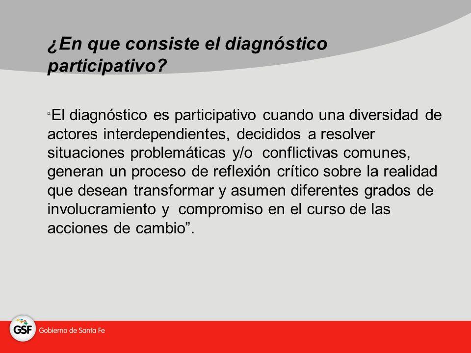¿En que consiste el diagnóstico participativo.