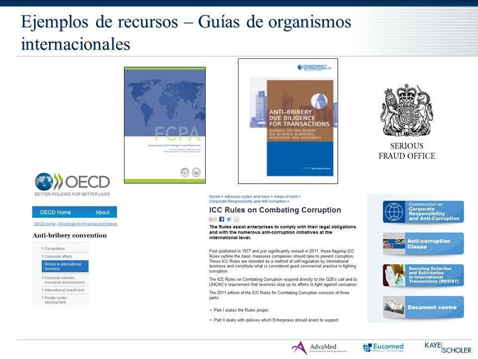 Ejemplos de recursos – Guías de organismos internacionales