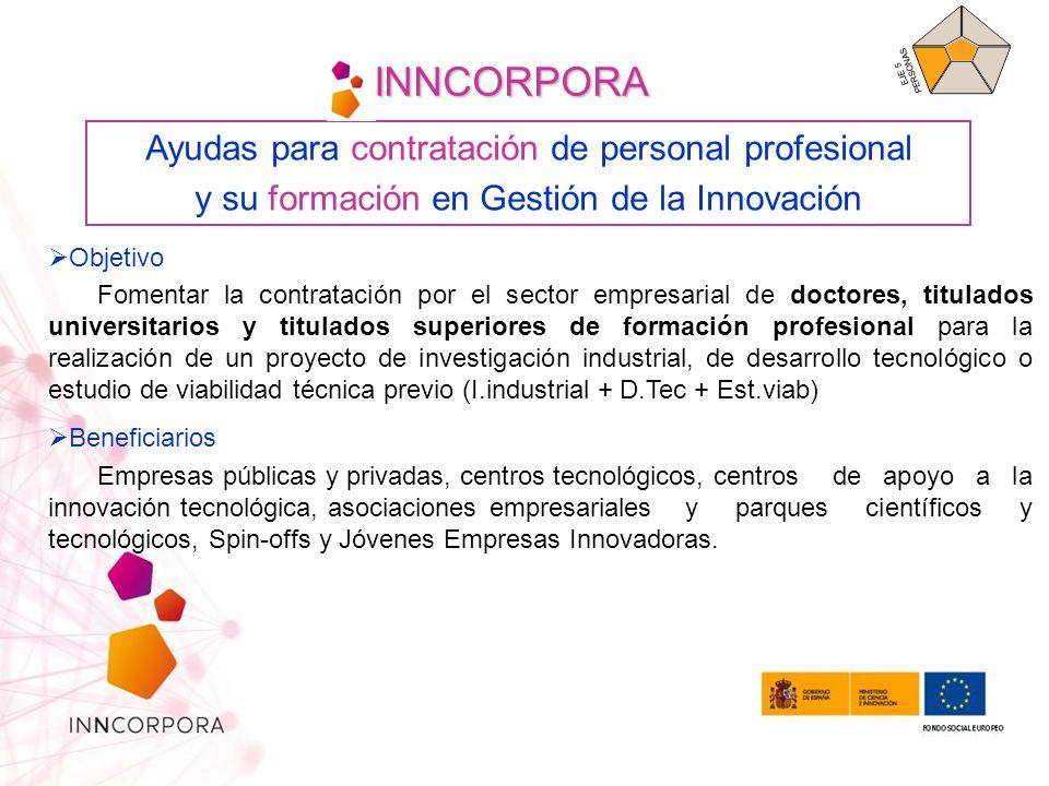 Solicitante/ beneficiario: Empresas públicas y privadas, Spin off, JEI, Asociaciones Empresariales, CT, CAIT y PCYT.
