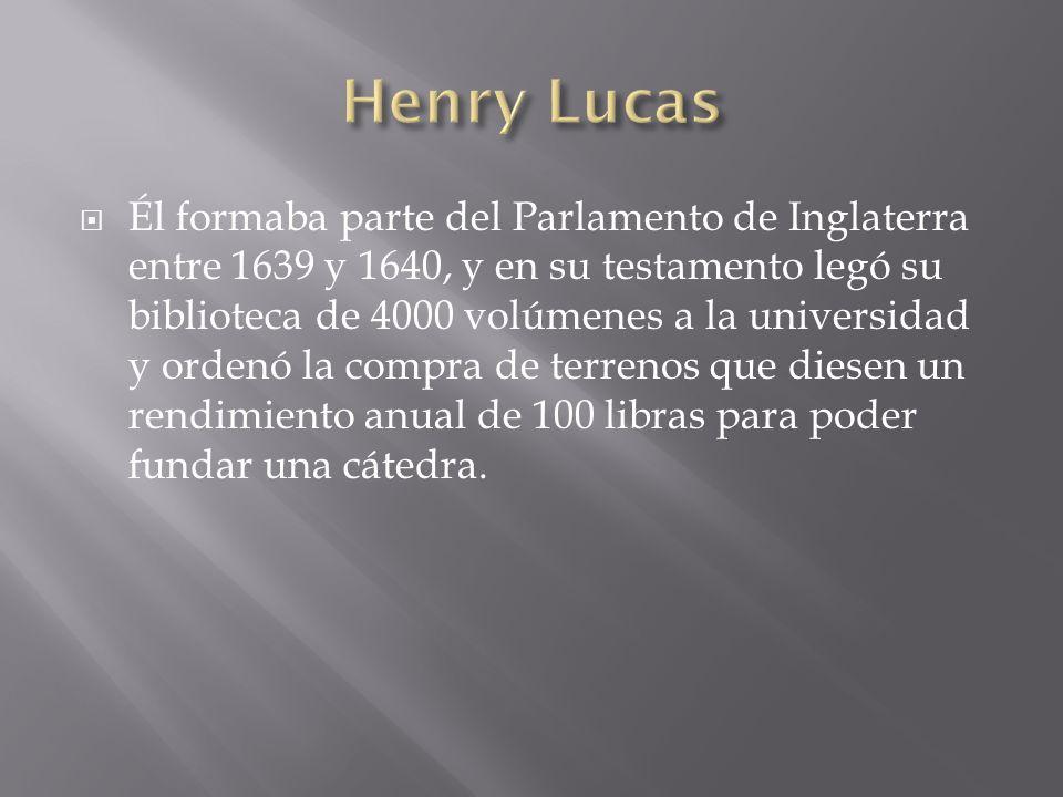 Él formaba parte del Parlamento de Inglaterra entre 1639 y 1640, y en su testamento legó su biblioteca de 4000 volúmenes a la universidad y ordenó la