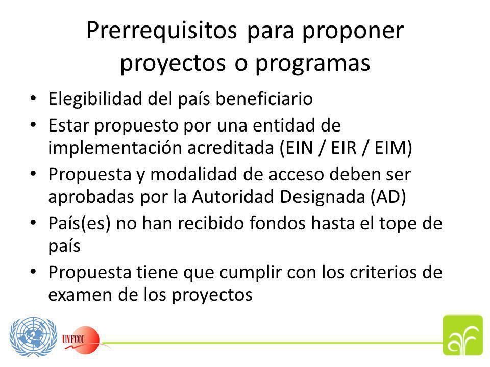Servicios de financiamiento Las Partes podrán realizar actividades de adaptación que encuadren en las siguientes categorias: a)proyectos /programas pequeños (propuestas de menos de USD $1 millón); y b)proyectos /programas mayores (propuestas completas, mas de USD $1 millón).