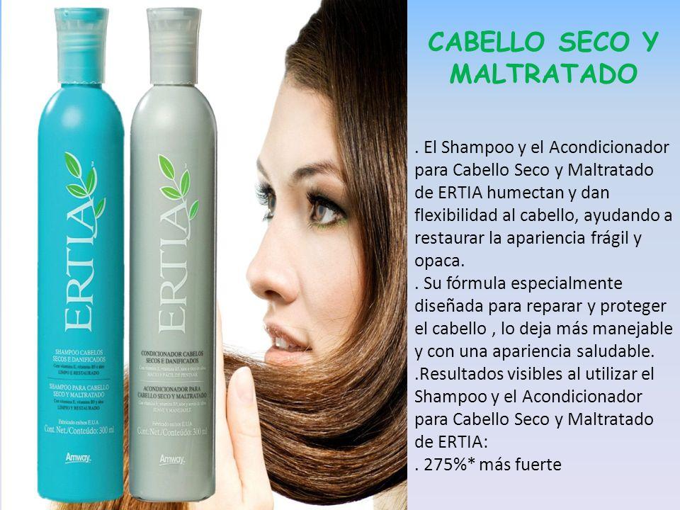 CABELLO SECO Y MALTRATADO. El Shampoo y el Acondicionador para Cabello Seco y Maltratado de ERTIA humectan y dan flexibilidad al cabello, ayudando a r