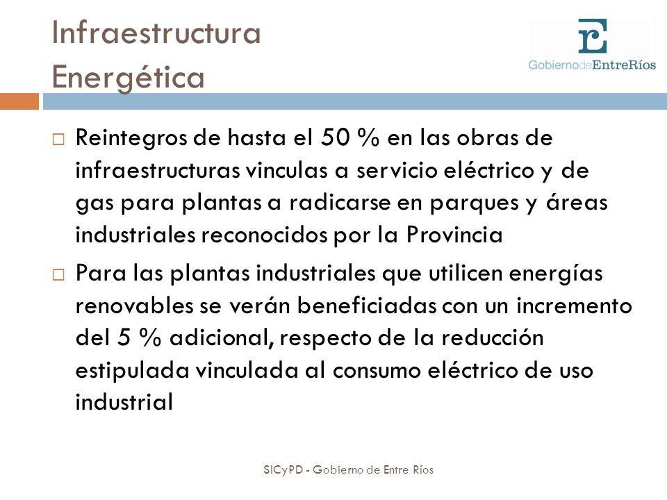 Infraestructura Energética SICyPD - Gobierno de Entre Ríos Reintegros de hasta el 50 % en las obras de infraestructuras vinculas a servicio eléctrico