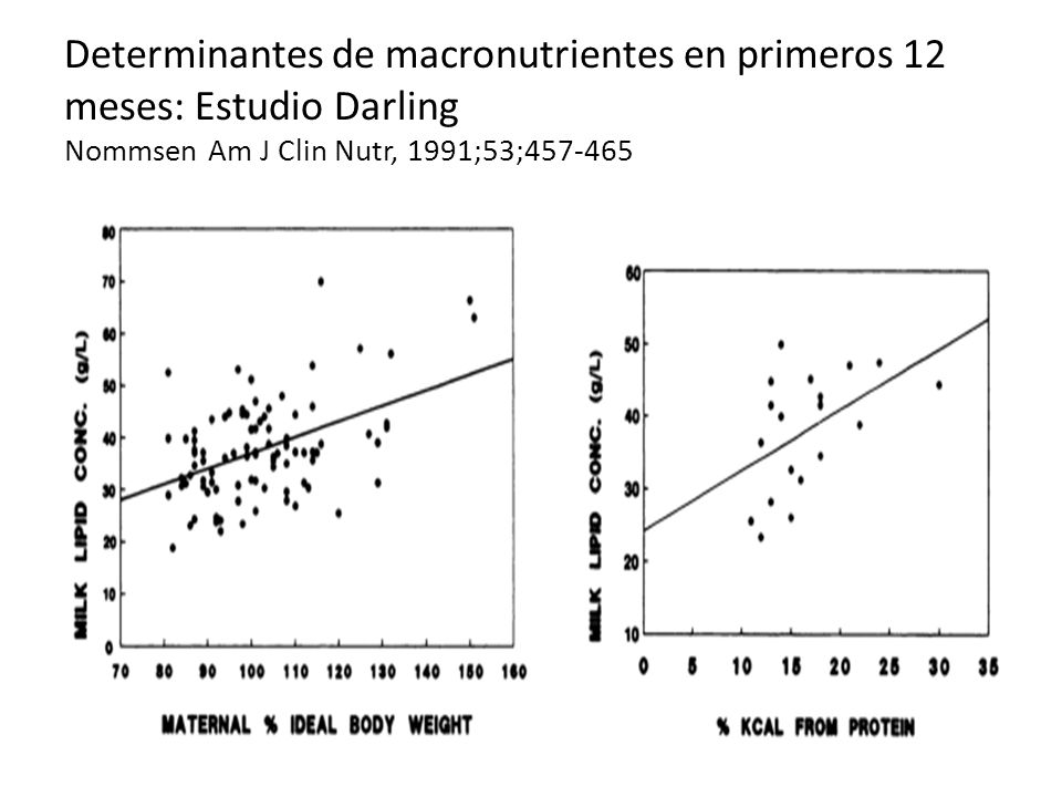 Determinantes de macronutrientes en primeros 12 meses: Estudio Darling Nommsen Am J Clin Nutr, 1991;53;457-465