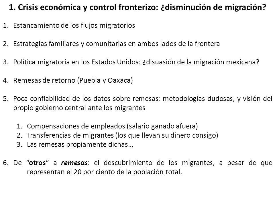 1. Crisis económica y control fronterizo: ¿disminución de migración.