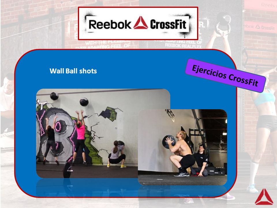 Ejercicios CrossFit Wall Ball shots