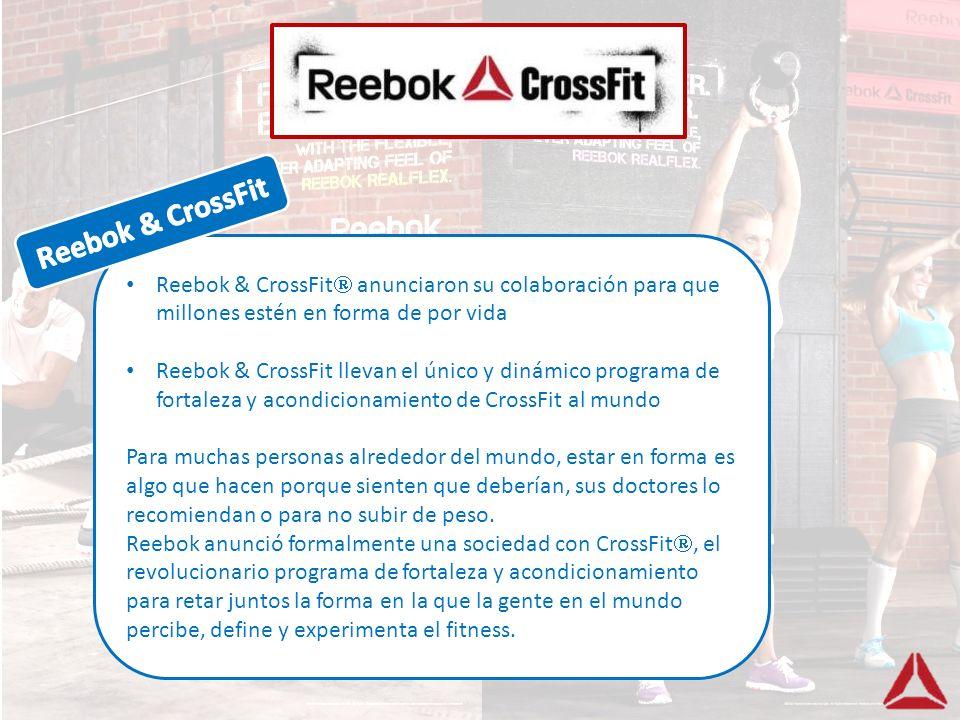 Reebok & CrossFit anunciaron su colaboración para que millones estén en forma de por vida Reebok & CrossFit llevan el único y dinámico programa de for