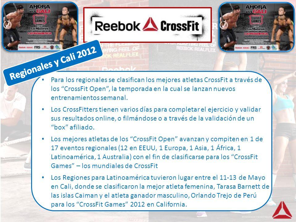 Para los regionales se clasifican los mejores atletas CrossFit a través de los CrossFit Open, la temporada en la cual se lanzan nuevos entrenamientos