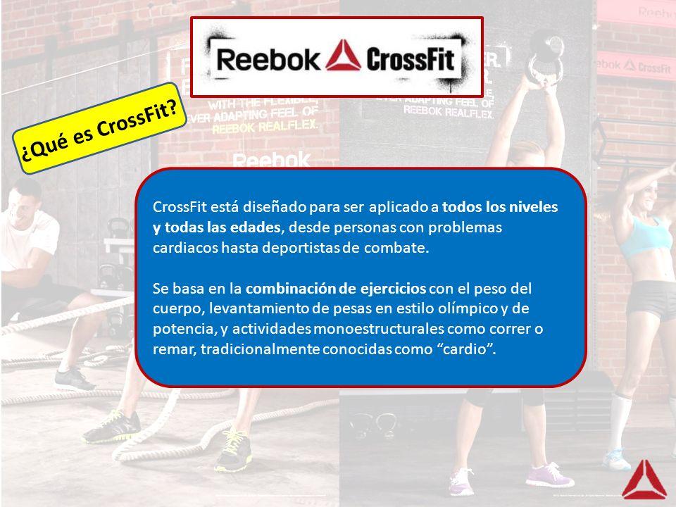 CrossFit está diseñado para ser aplicado a todos los niveles y todas las edades, desde personas con problemas cardiacos hasta deportistas de combate.