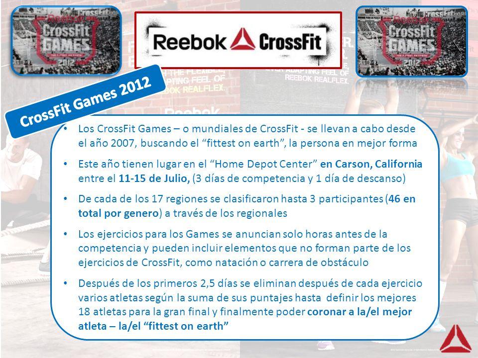 Los CrossFit Games – o mundiales de CrossFit - se llevan a cabo desde el año 2007, buscando el fittest on earth, la persona en mejor forma Este año ti