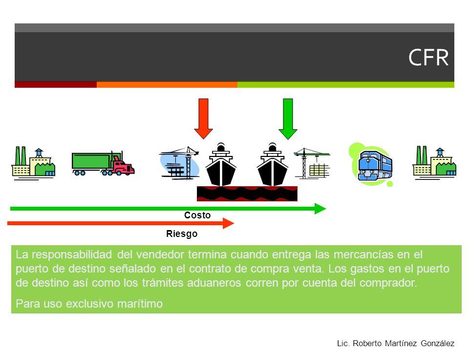 La responsabilidad del vendedor termina cuando entrega las mercancías en el puerto de destino señalado en el contrato de compra venta. Los gastos en e