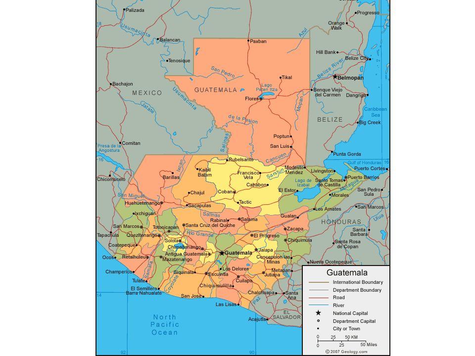 GUATEMALA INTRODUCCIÓN La civilización maya floreció en Guatemala y regiones vecinas durante el primer milenio d.de C.
