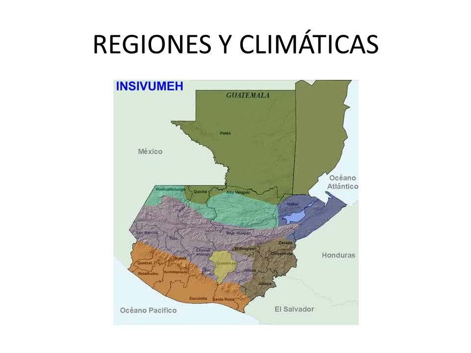 REGIONES GEOGRAFICAS Y CLIMÁTICAS LAS PLANICIES DEL NORTE: Comprende las planicies de El Peten.