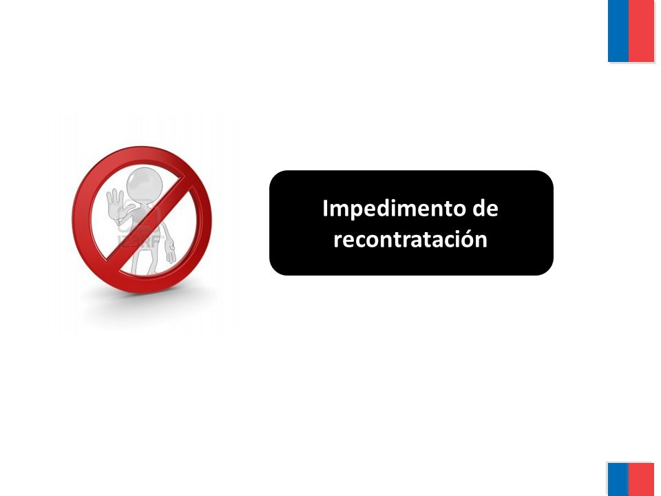 Impedimento de recontratación