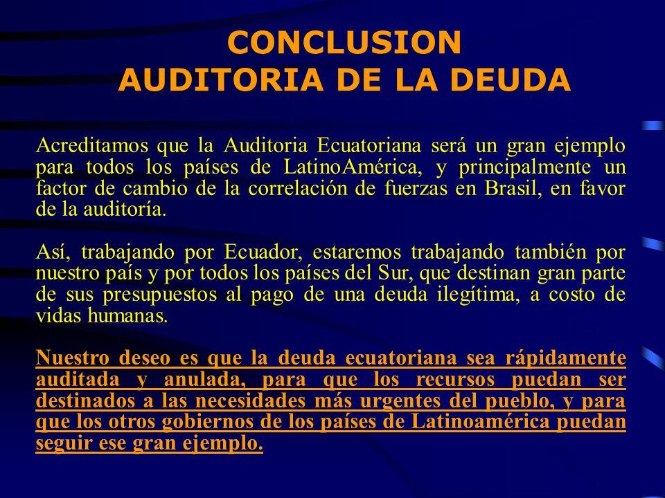 Acreditamos que la Auditoria Ecuatoriana será un gran ejemplo para todos los países de LatinoAmérica, y principalmente un factor de cambio de la corre