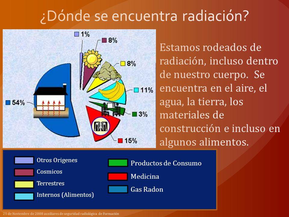 21 de Noviembre de 2008 auxiliares de seguridad radiológica de Formación Otros Origenes Cosmicos Terrestres Internos (Alimentos) Productos de Consumo