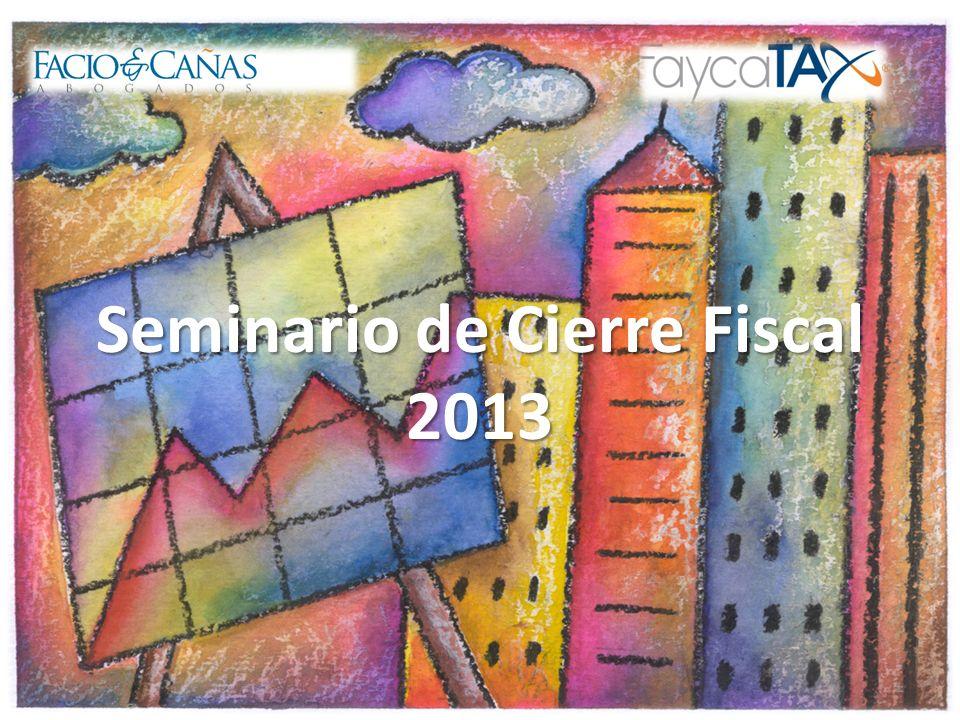 Seminario de Cierre Fiscal 2013 1