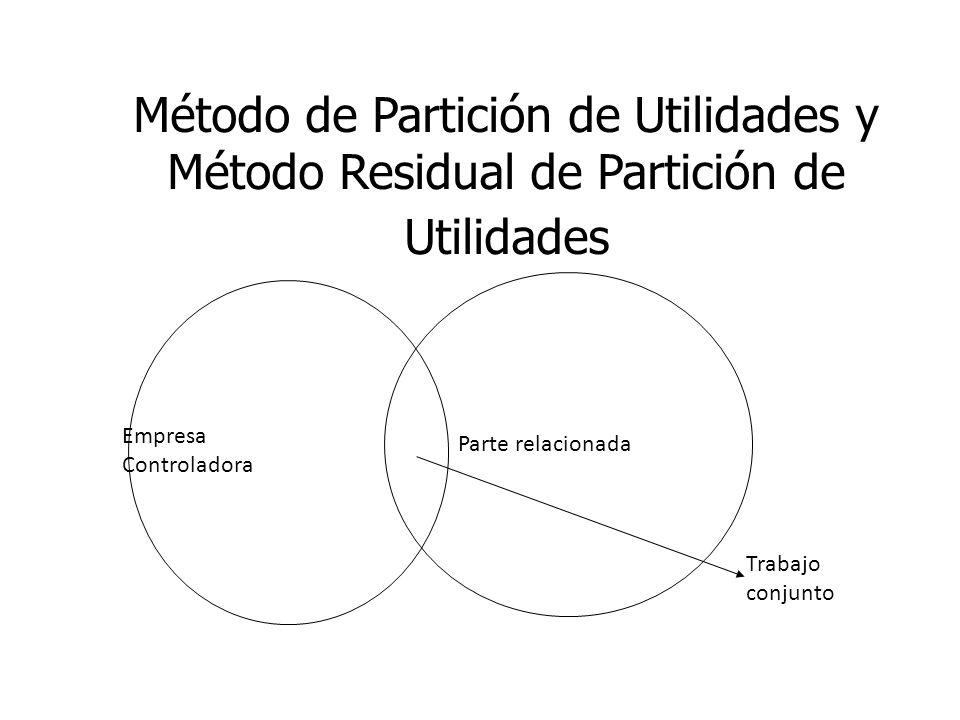 Método de Partición de Utilidades y Método Residual de Partición de Utilidades Empresa Controladora Parte relacionada Trabajo conjunto