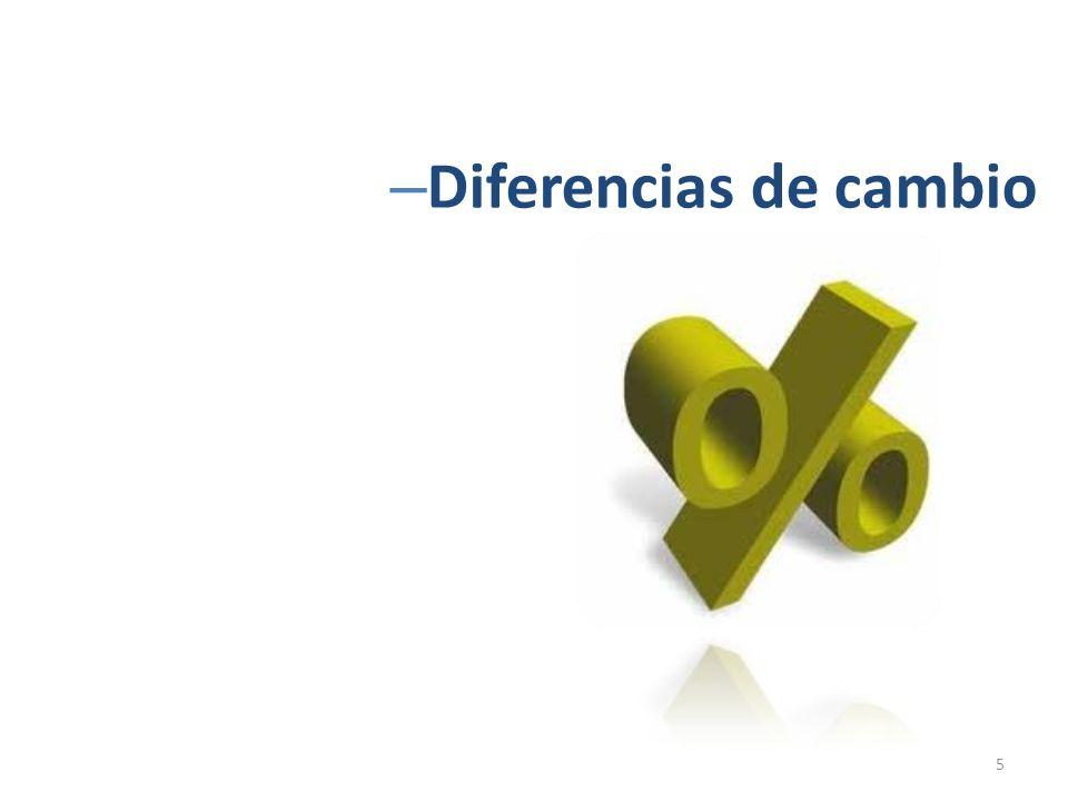 – Diferencias de cambio 5