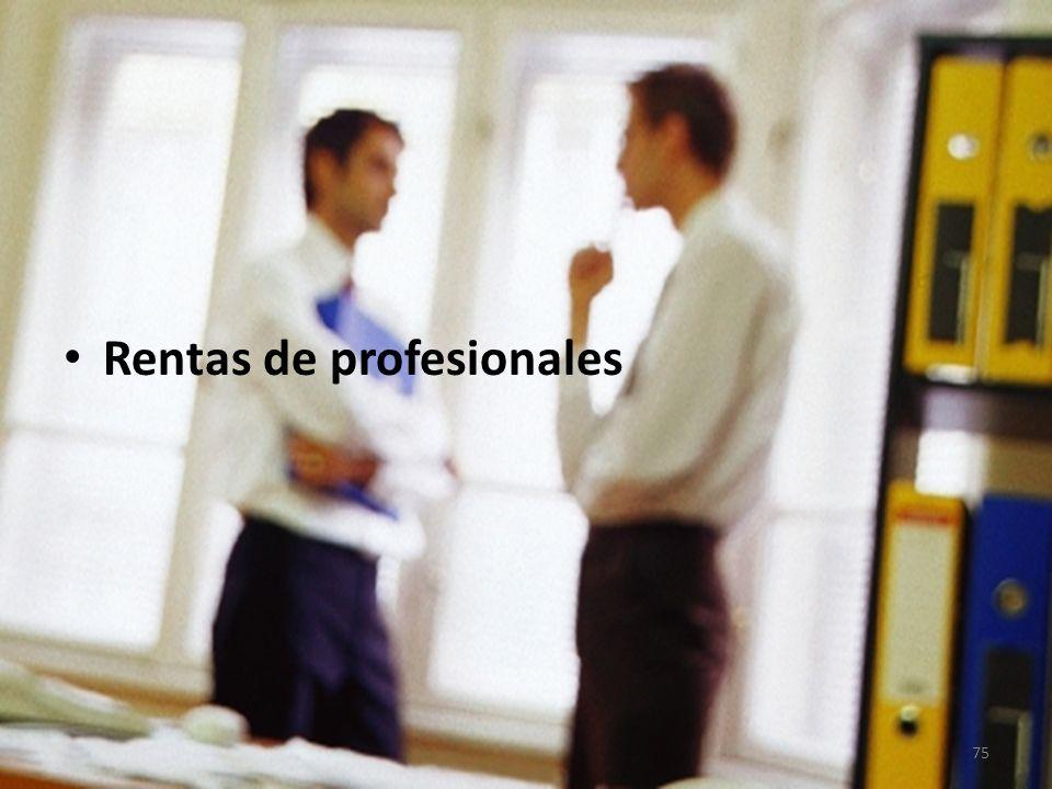 Rentas de profesionales 75
