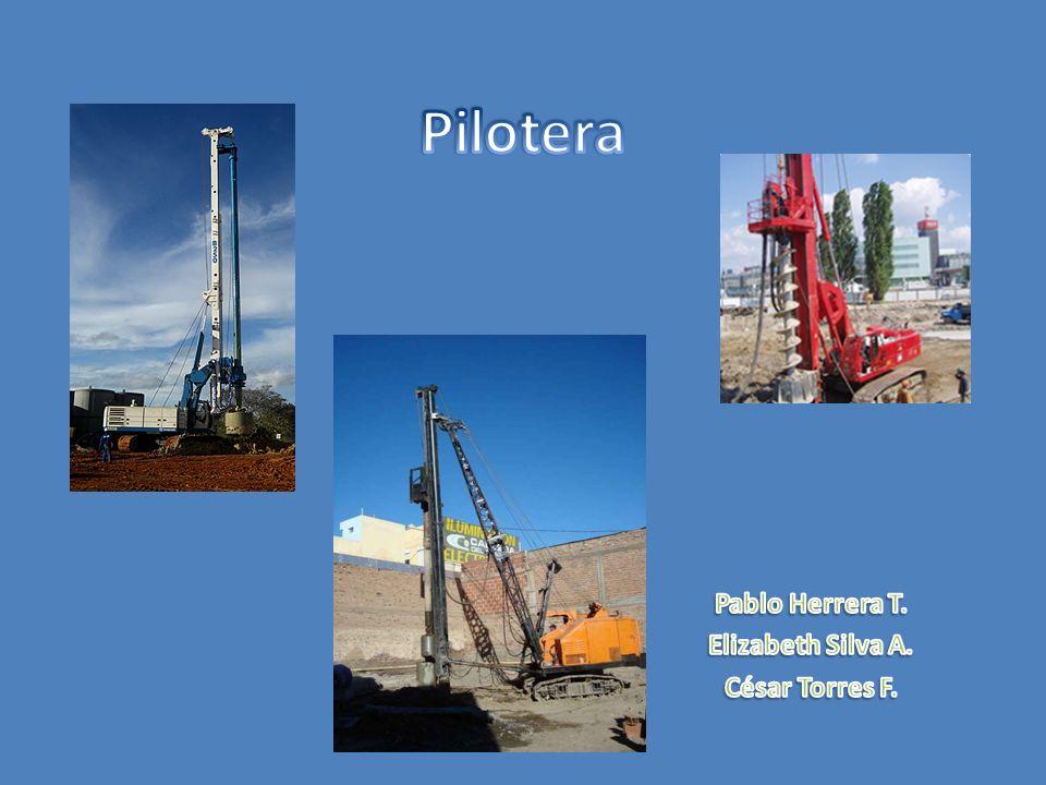 Modelos de pilotera PILOTEADORA DE TORNILLO CONTINUO SOILMEC SF-50 Profundidad máxima de perforación: 25 m Diámetro máximo de excavación: 600 mm Sistema hidráulico de perforación Bomba de concreto Maycom LS 500