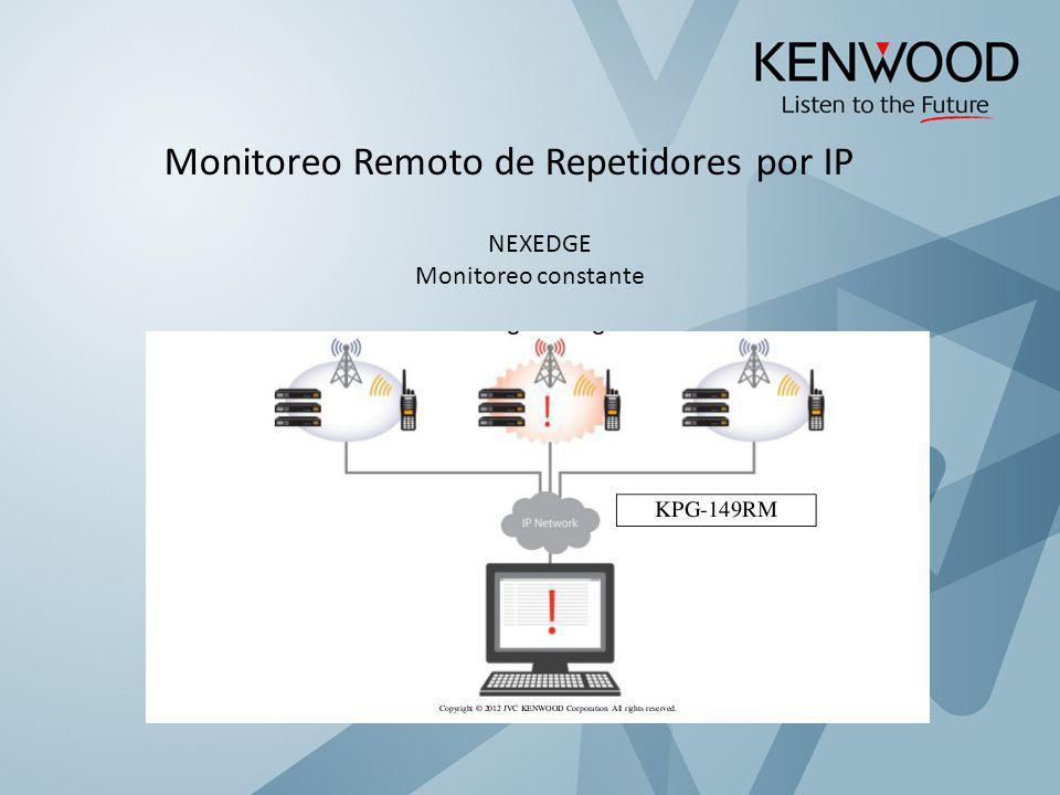 Monitoreo Remoto de Repetidores por IP NEXEDGE Monitoreo constante