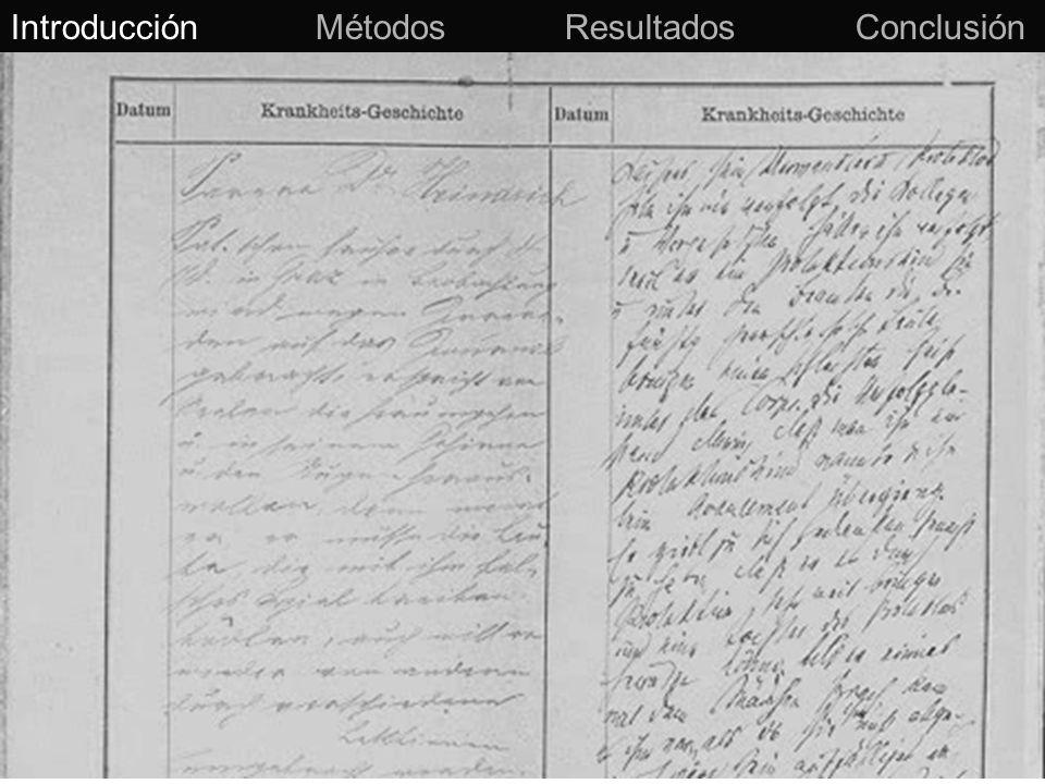 Captura de datos Lenguaje Natural (Texto) Introducción Métodos Resultados Conclusión Datos estructurados