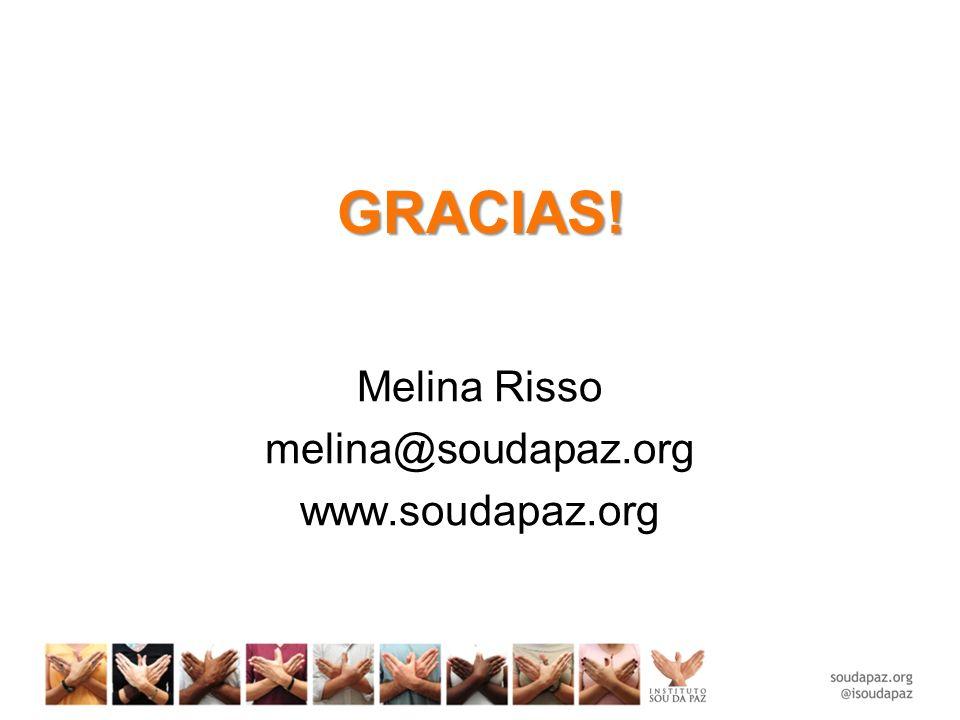 GRACIAS! Melina Risso melina@soudapaz.org www.soudapaz.org