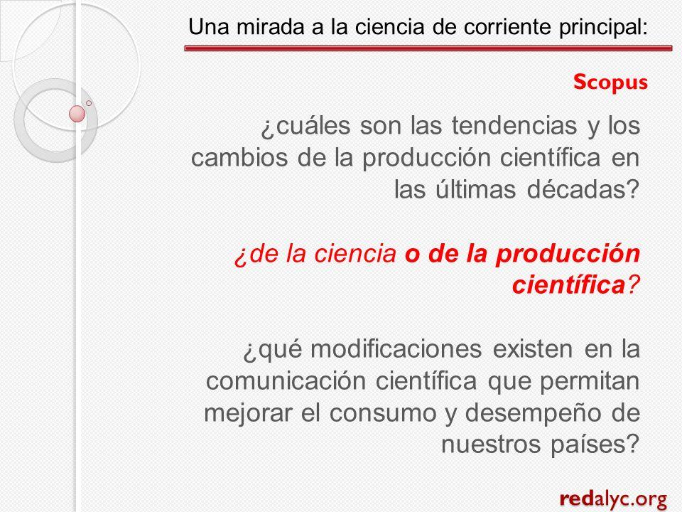 ¿cuáles son las tendencias y los cambios de la producción científica en las últimas décadas? ¿de la ciencia o de la producción científica? ¿qué modifi