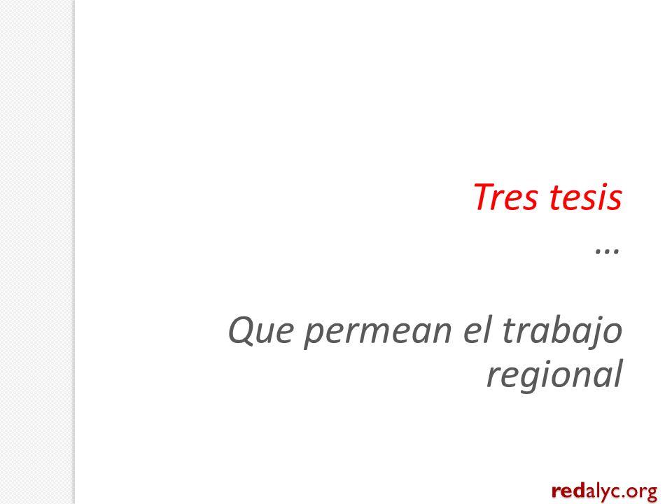 Tres tesis … Que permean el trabajo regional redalyc.org