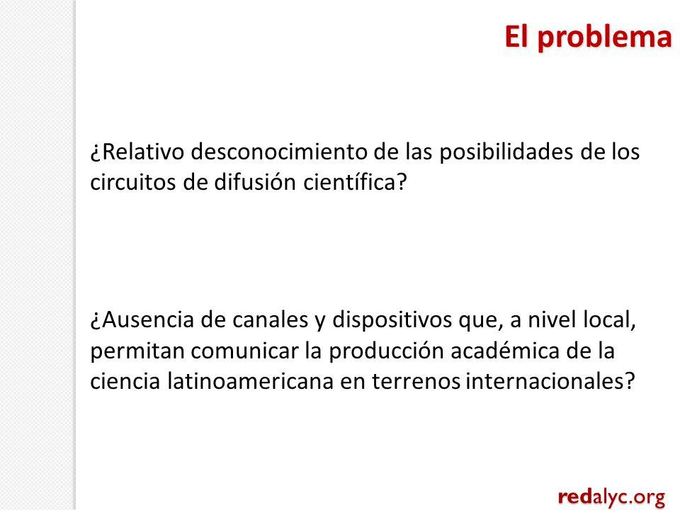 ¿Relativo desconocimiento de las posibilidades de los circuitos de difusión científica? ¿Ausencia de canales y dispositivos que, a nivel local, permit