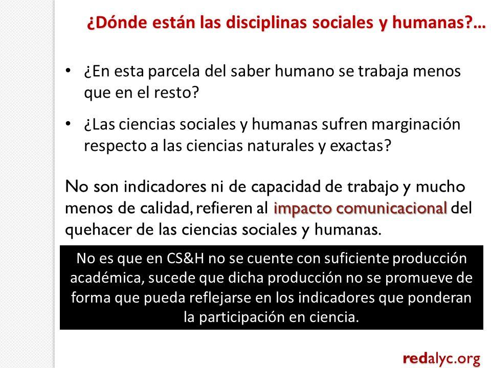 ¿En esta parcela del saber humano se trabaja menos que en el resto? ¿Las ciencias sociales y humanas sufren marginación respecto a las ciencias natura