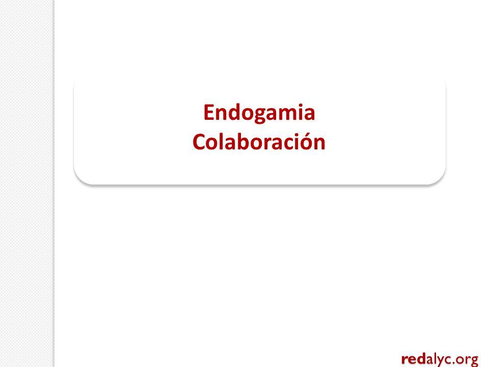 Endogamia Colaboración Endogamia Colaboración redalyc.org