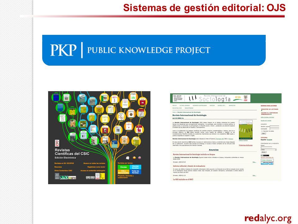 Sistemas de gestión editorial: OJS redalyc.org