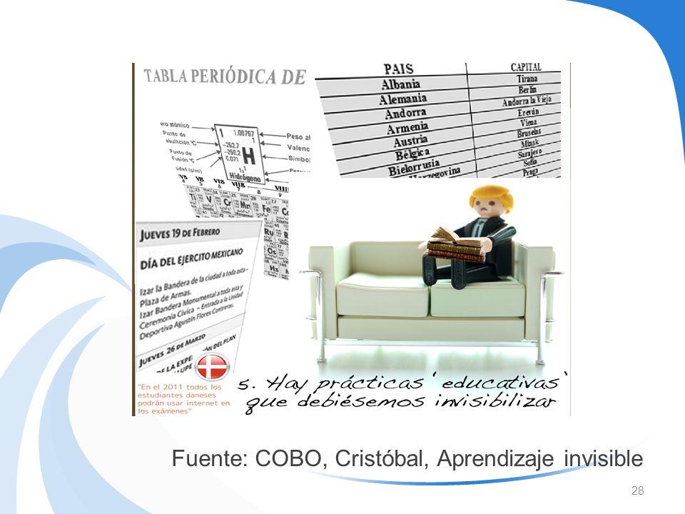 28 Fuente: COBO, Cristóbal, Aprendizaje invisible