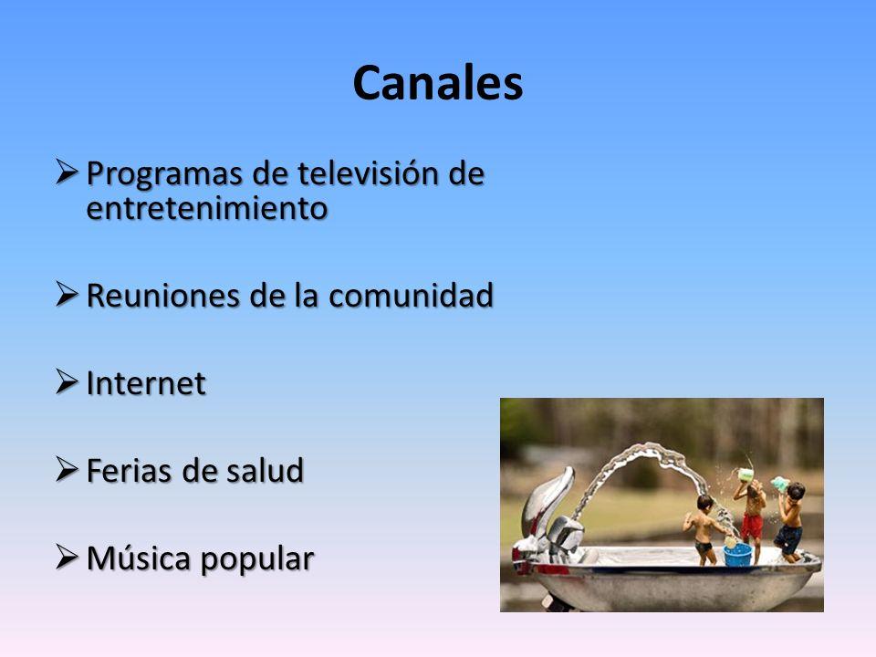Canales Programas de televisión de entretenimiento Programas de televisión de entretenimiento Reuniones de la comunidad Reuniones de la comunidad Inte