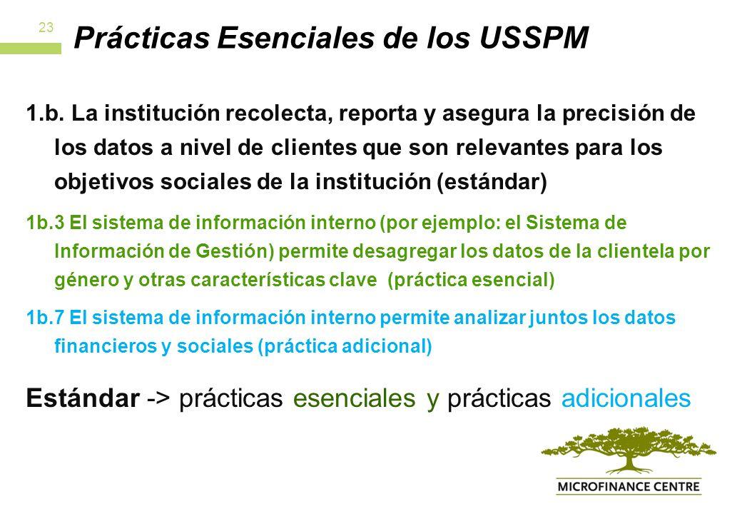 Prácticas Esenciales de los USSPM 1.b.