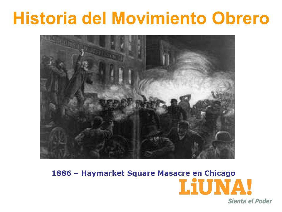 Historia del Movimiento Obrero 1886 – Haymarket Square Masacre en Chicago