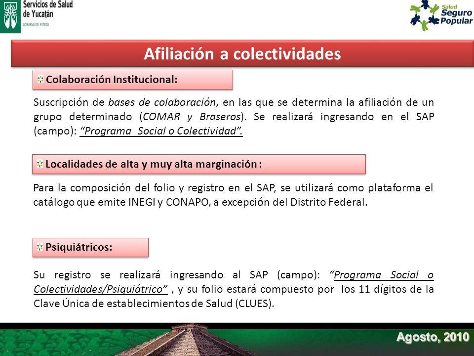 Colaboración Institucional: Suscripción de bases de colaboración, en las que se determina la afiliación de un grupo determinado (COMAR y Braseros). Se