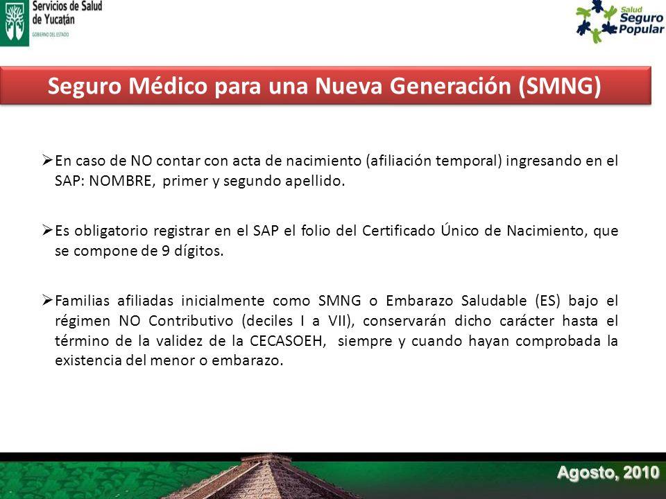 En caso de NO contar con acta de nacimiento (afiliación temporal) ingresando en el SAP: NOMBRE, primer y segundo apellido. Es obligatorio registrar en