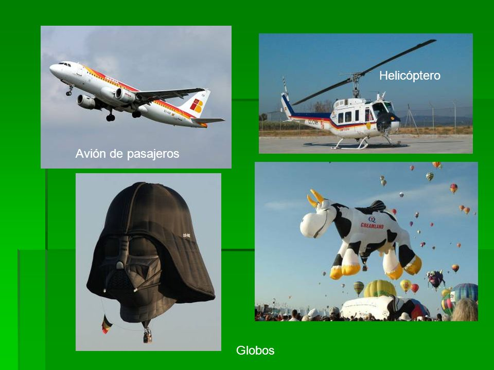 Globos Helicóptero Avión de pasajeros