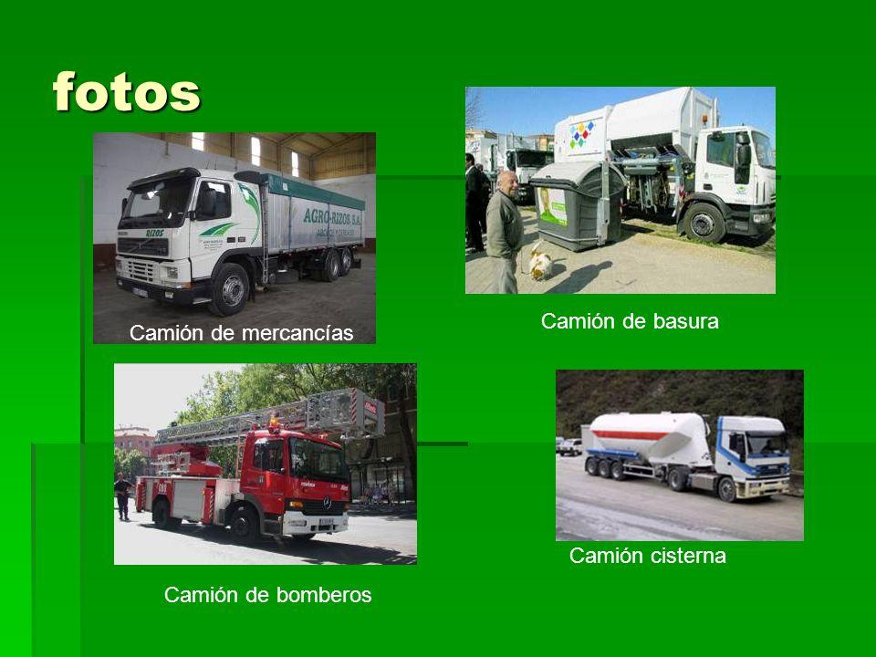 fotos Camión de mercancías Camión de basura Camión de bomberos Camión cisterna