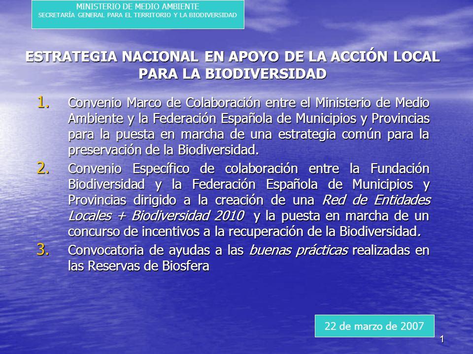 1 ESTRATEGIA NACIONAL EN APOYO DE LA ACCIÓN LOCAL PARA LA BIODIVERSIDAD 1.