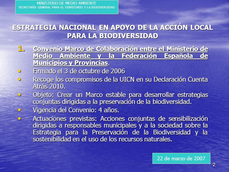 2 ESTRATEGIA NACIONAL EN APOYO DE LA ACCIÓN LOCAL PARA LA BIODIVERSIDAD 1.